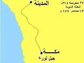 طريق رحلة الهجرة من مكة للمدينة