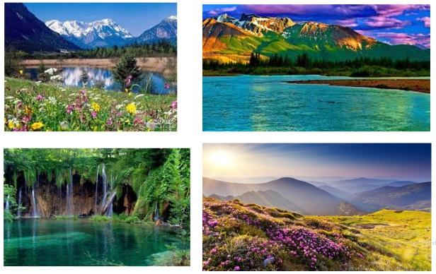 جبال جميلة.