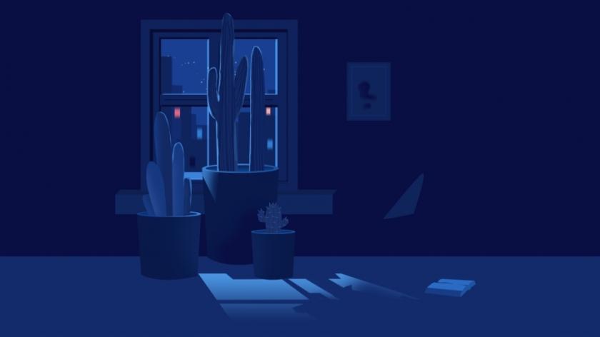 غرفة مظلمة