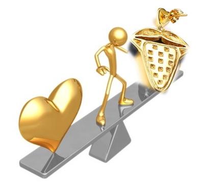 التوازن بين القلب واللسان